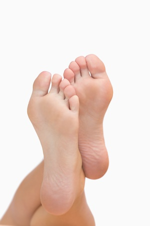 podiatry: Womans crossed feet