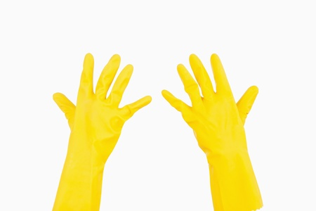 out of context: Yellow rubber gloves
