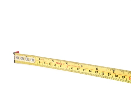 out of context: Close-up of tape measure
