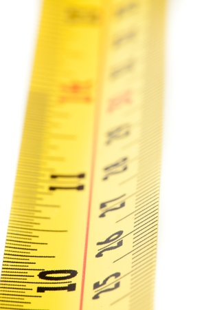 out of context: Part of a measuring tape close up Stock Photo