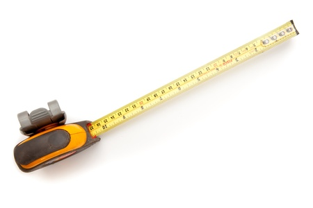 out of context: Yellow industrial measuring tape