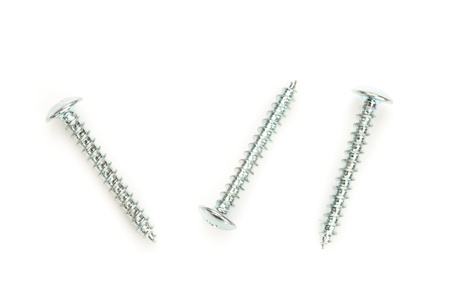 out of context: Three screws Stock Photo