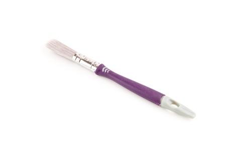 bristle: Purple unused bristle brush