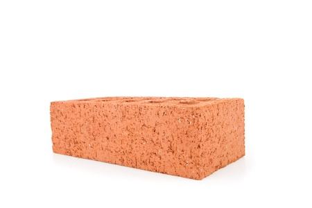 out of context: Red brick on white background