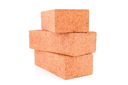 Stack of red clay bricks Stock Photo - 16068512