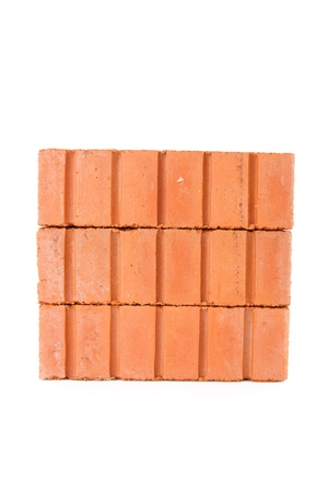 Small wall of stacked red bricks Stock Photo - 16068068