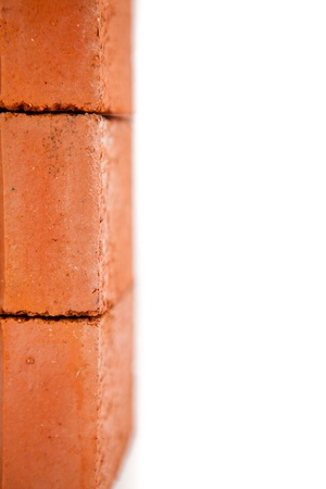 Edge of stack of red bricks Stock Photo - 16067597