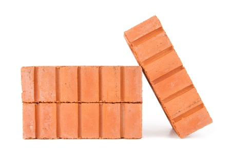 Stack of bricks against a white background Stock Photo - 16068234
