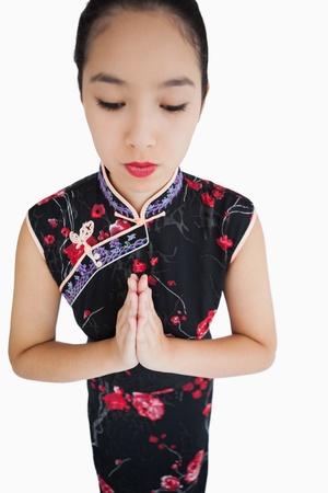 ensemble mains: Femme portant kimono traditionnel avec les mains