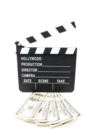 dollar bills: A ventaglio dollaro in ardesia film su sfondo bianco