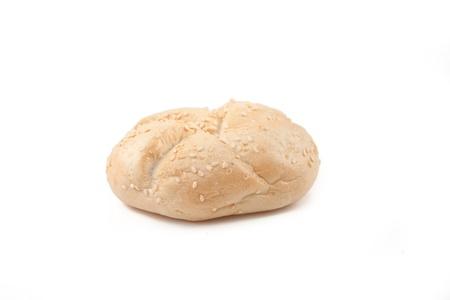 kaiser: White kaiser roll with sesame seeds