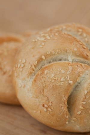 kaiser: Close up of kaiser roll with sesame seeds