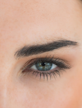 Close up of womans eye photo