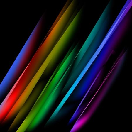 Oblique bunten Geraden vor einem schwarzen Hintergrund Standard-Bild