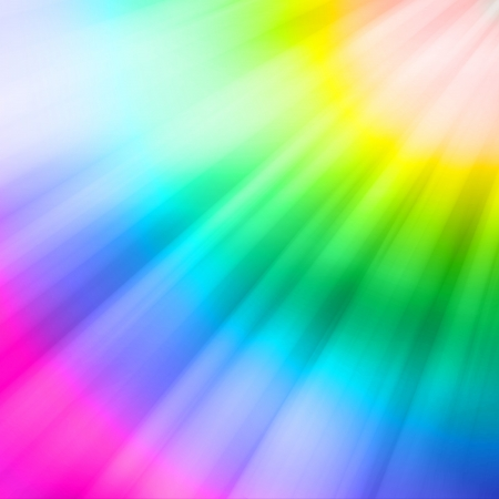 light color: Reflections appearing in a downward angle on the colors of the rainbow Stock Photo