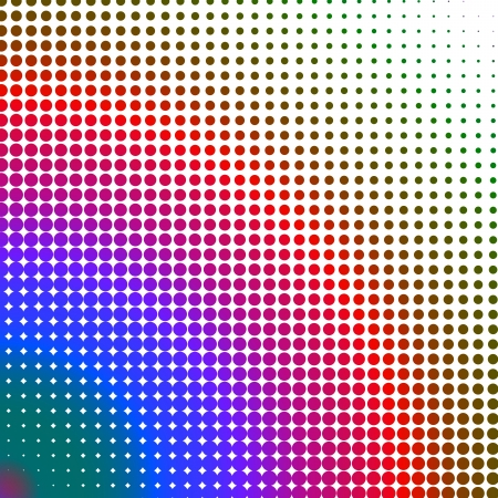 changing form: Multicolored dots changing form against a white background