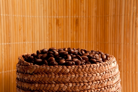 Close up of the top of a basket full of roasted seeds Stock Photo - 16208960