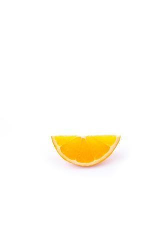 orange peel skin: orange slice against white backgound Stock Photo