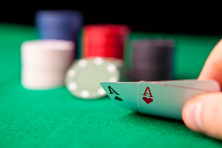Rockets in poker against a black background Stock Photo - 16202101