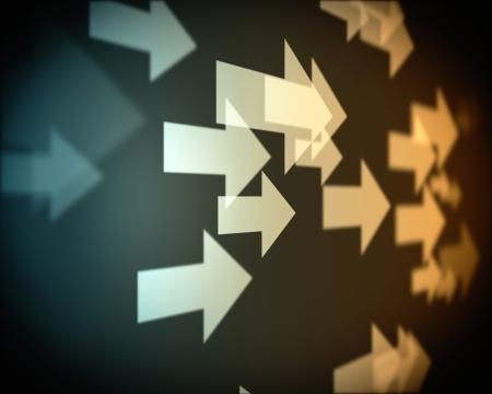 flecha derecha: Antecedentes de múltiples flechas de color beige va a la derecha Foto de archivo
