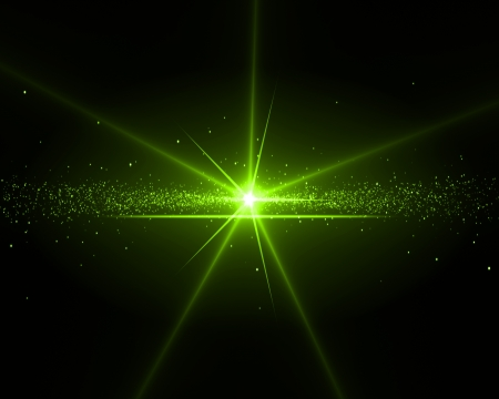 gleam: Background with a green star in the middle Stock Photo