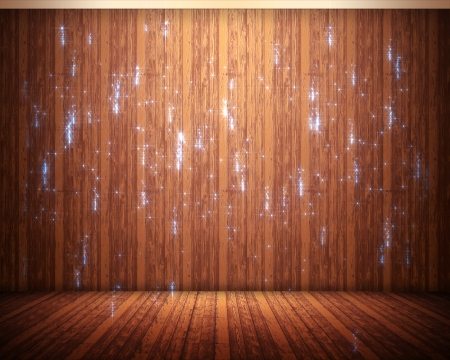 crackling: Background of brown flooring with sparks