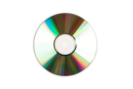 gigabyte: Compact disc against a white background