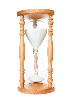 Hourglass against a white background photo