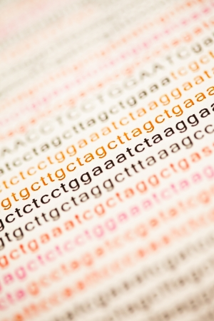 adenine: List of dna analysis letters Stock Photo
