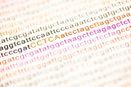 enumeration: List of dna analysis letters in colours