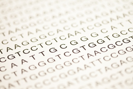 modifying: List of dna analysis in capital letters in black