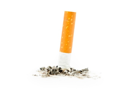 Cigarette extinguished against a white background Stock Photo - 16198502