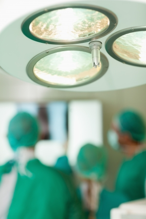 surgical light: Close up of a surgical light in a surgical room