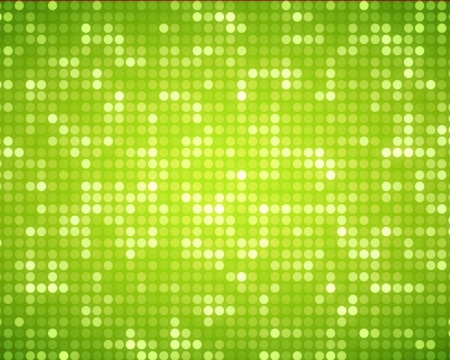 Background of multiples green dots photo