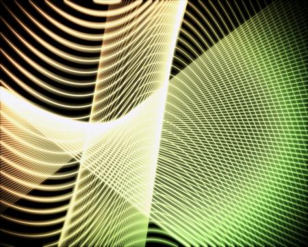 volute: Sfondo di voluta di linee verde e gialla