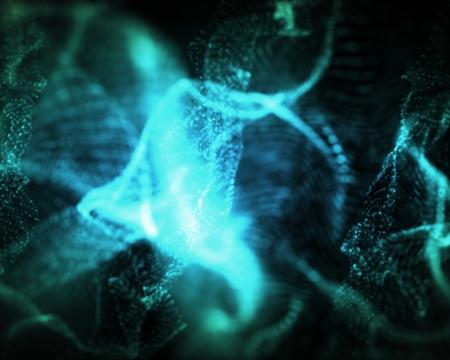 indefinite: Background of indefinite shapes of blue lighting Stock Photo
