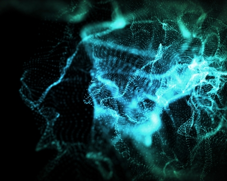 onbepaalde: Achtergrond van onbepaalde vormen van blauwe lichten Stockfoto