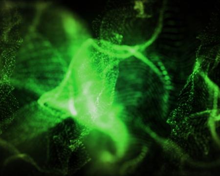 onbepaalde: Achtergrond van onbepaalde vormen van groene lichten Stockfoto