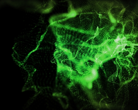 indefinite: Background of indefinite shapes of green lighting