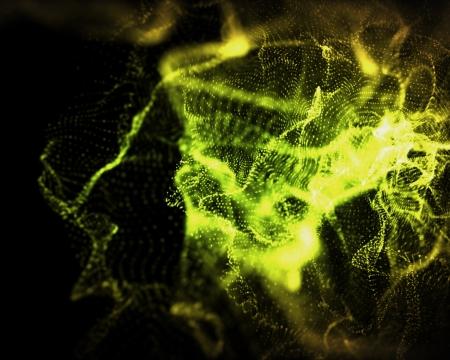 onbepaalde: Achtergrond van onbepaalde vormen van groen en geel licht