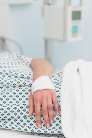 Close up of the hand of a patient in hospital ward Stock Photo - 16203538