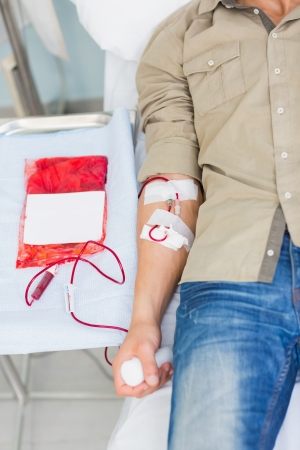Close up of a transfused male in hospital ward Stock Photo - 16207365