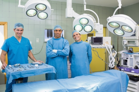 Potrait of Several Surgeons at an operation table Stock Photo - 18095480