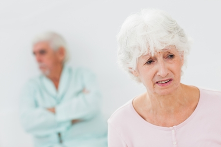 Elderly couple having a fight Stock Photo - 18118283