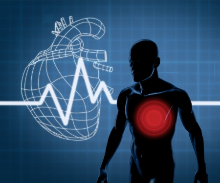 Mapping graphics heart and body Stock Photo - 18118570