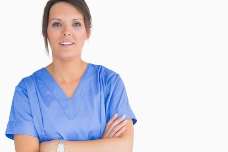 Nurse with tied hair on the background  Stock Photo