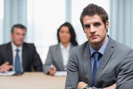 Young businessman with arms crossed Stock Photo - 18117725