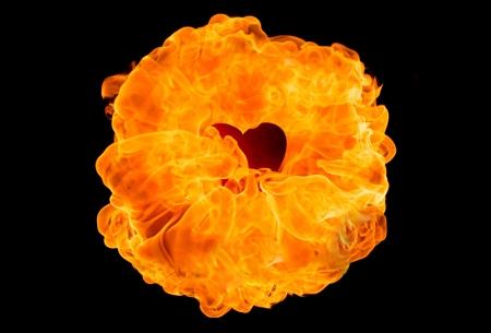 fireball: Large fireball on black background