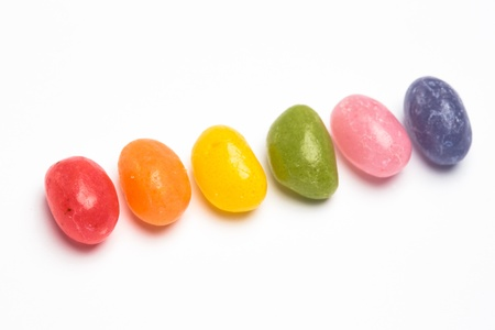 bisexual: Rainbow jellybeans for gay pride