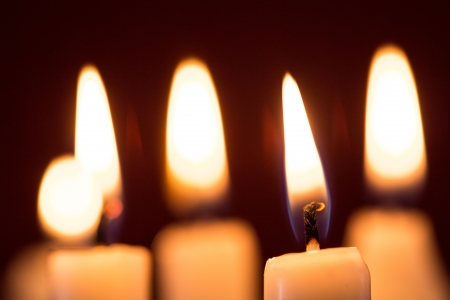 flickering: White candles in the dark